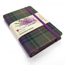 Tartan Cloth Notebook Pocket: Heather