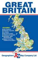 Great Britain Road Map Folded