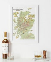 Collect & Scratch Print: Whisky Distilleries