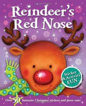 Reindeer's Red Nose Sticker Activity
