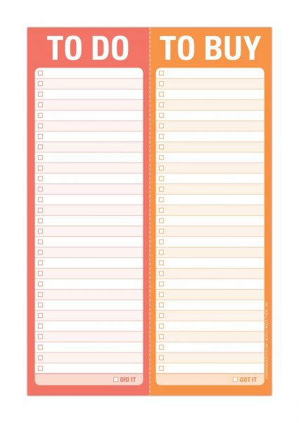 Perforated Pad: To Do/To Buy