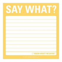 Sticky Notes: Say What?