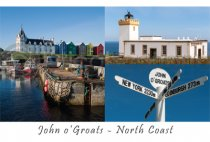 John o'Groats & the North Coast Composite Postcard (H A6 LY)