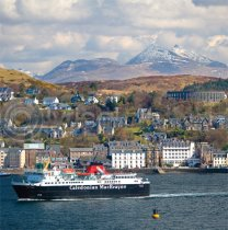 Oban & Ben Cruachan Colour Photo Greetings Card (LY)