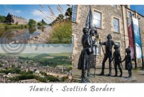 Hawick Scottish Borders Composite Postcard (H A6 LY)