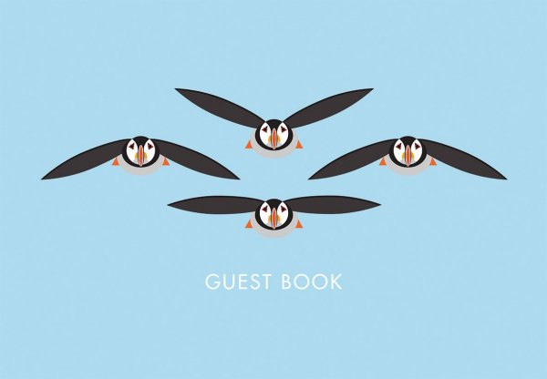 I Like Birds: Flying Puffins Guest Book (Sep)