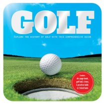 Golf Book, Ball & Tees Gift Tin