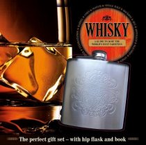 Whisky Book & Hip Flask Gift Set