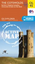 Explorer Active OL 45 The Cotswolds