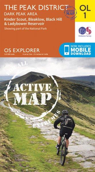 Explorer Active OL 01 the Peak District, Dark Peak Area