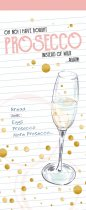 Shopping List Pad Prosecco
