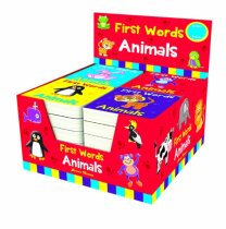 First Words Animals Board Books 4 Asst