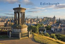 City from Calton Hill, Edinburgh Postcard (H Std CB)