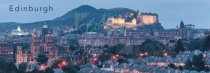 City and Arthur's Seat at dusk, Edinburgh Postcard (H Pan CB)