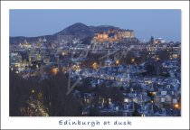 Edinburgh & city at dusk, Edinburgh Postcard (H Std CB)
