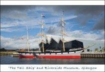 Tall Ship & Riverside Museum, Glasgow Postcard (H Std CB)