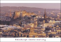 City from Salisbury Crags, Edinburgh 3 Postcard (H Std CB)
