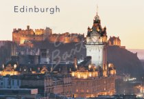 Edinburgh Castle & Balmoral Hotel, Edinburgh 2 Postcard (H Std C