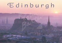 Edinburgh Castle & City at sunset, Edinburgh Postcard (H Std CB)
