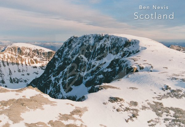 Ben Nevis from west From Air Postcard (H Std CB)
