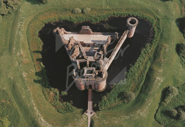 Caerlaverock Castle, Dumfriesshire From Air Postcard (H Std CB)