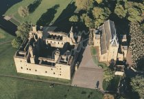 Linlithgow Palace From Air Postcard (H Std CB)
