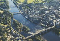Perth City Centre & River Tay From Air Postcard (H Std CB)