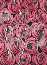 Rose & Teardrops Textile Design Gift Tag