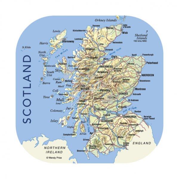 Scotland Map Coaster