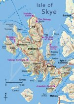 Isle of Skye Map Magnet (V CB)