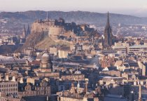 City from Salisbury Crags, Edinburgh 1 Postcard (H Std CB)