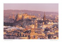 Edinburgh Castle & City Print