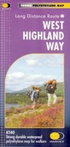 XT40 Map Long Distance Paths West Highland Way