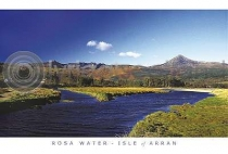 Glen Rosa Water- Isle of Arran Postcard (HA6)