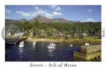 Corrie Harbour - Isle of Arran Postcard (HA6)