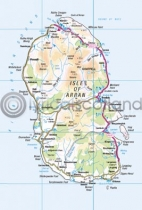 Arran Map Postcard (V A6 LY)