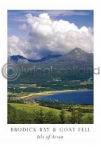 Brodick Bay & Goat Fell Postcard (VA6)