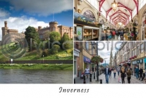 Inverness Composite Postcard (HA6)