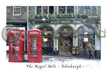 Deacon Brodie's Tavern Royal Mile Postcard (H A6 LY)