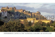 Edinburgh Castle & National Gallery Postcard (HA6)