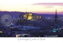 Edinburgh Castle at Dusk Postcard (HA6)