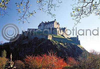 Edinburgh Castle from Princes Street Gardens (HA6)