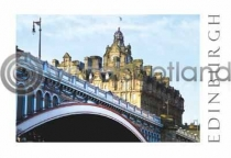Balmoral Hotel & North Bridge Postcard (H A6 LY)
