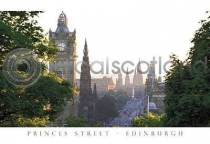 Princes Street From Calton Hill Postcard (HA6)