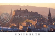 Edinburgh Castle Warm Glow Postcard (HA6)