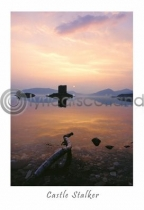Castle Stalker, Sunset Postcard (V A6 LY)