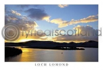 Loch Lomond Sunset Postcard (H A6 LY)