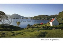 Highland Cottage, Loch Torridon Postcard (HA6)