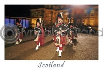 Scottish Pipers - Scotland Postcard (H A6 LY)