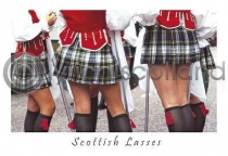 Scottish Lasses Postcard (HA6)